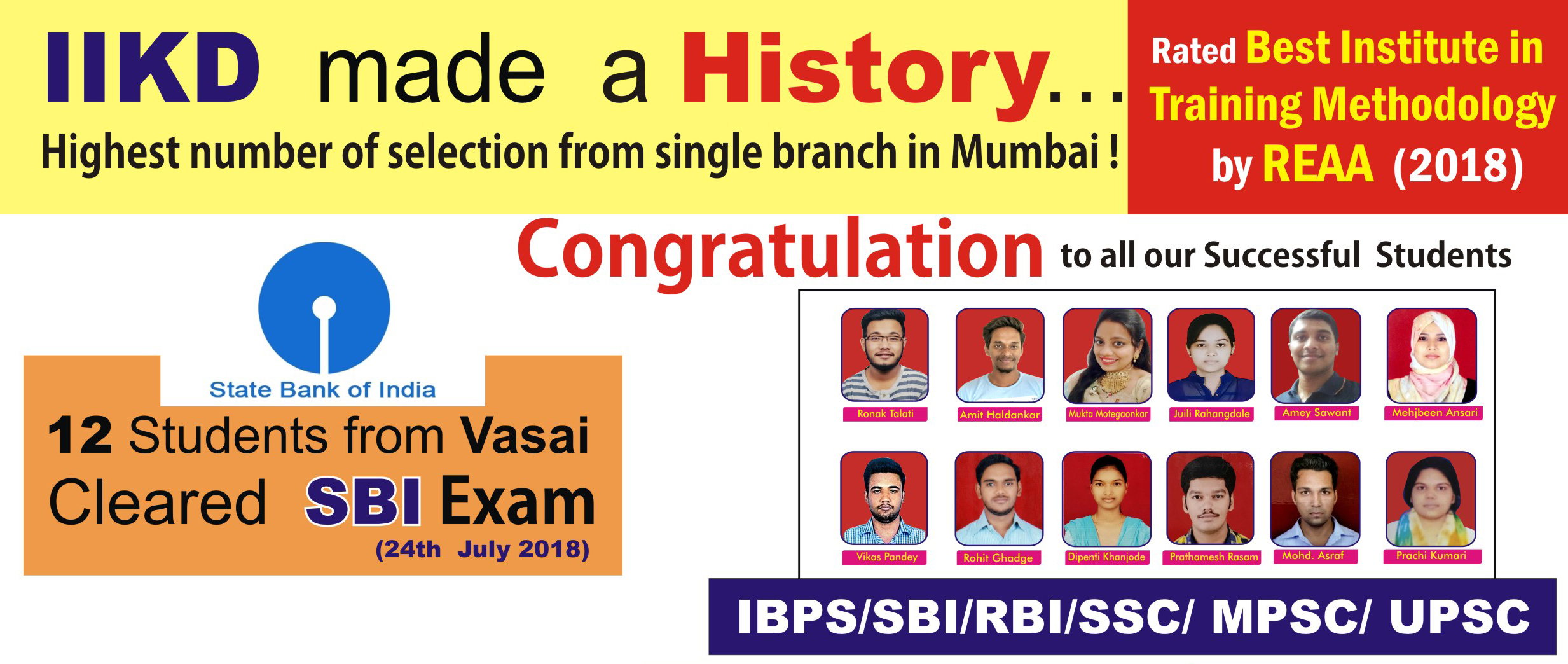 IIKD is providing the best coaching for bank exam, ibps exams, all bank competitive exams rrb exams, ssc competitive exam in vasai, virar, and nalasopara.